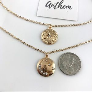Jewelry - 3 for $25⚡️Moon & north star coin layered necklace